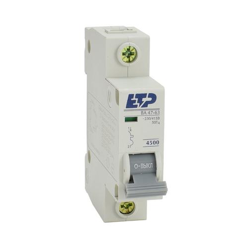 Автоматический выключатель ВА 47-63, 1Р 10А (C) 4,5кА ETP