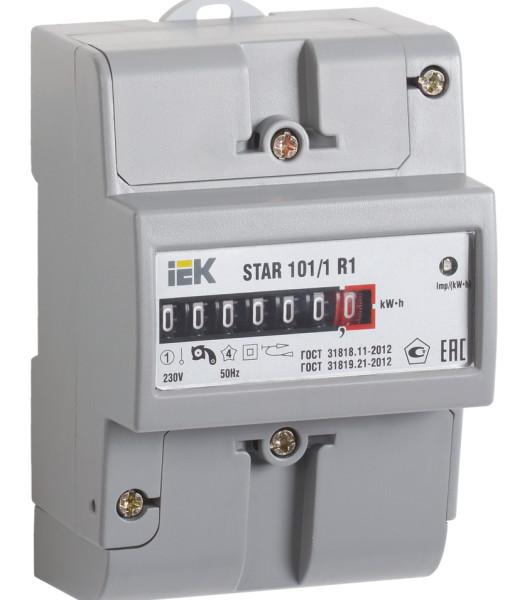 Счетчик электрической энергии однофазный STAR 101.1 R1-5(60)М IEK